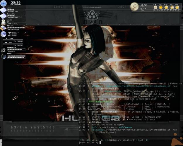 eccolo il mio KDE...