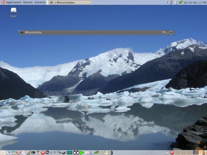 Il desktop del gufo