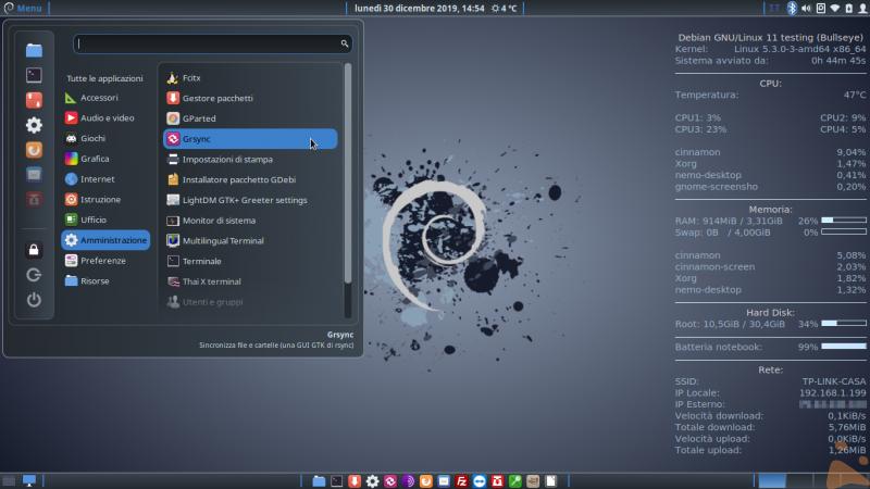 Debian Bullseye Cinnamon